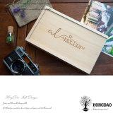Привода USB логоса Hongdao коробка дешевого изготовленный на заказ деревянного упаковывая с _E оптовой продажи привода вспышки USB