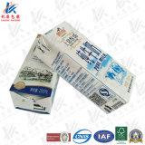 Material de embalagem asséptico para produtos lácteos e suco