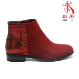 Lady Sequin spéciaux en PU de chaussures femmes avec Bottines (AB637)