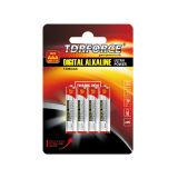 1.5V Digital alkalische trockene Batterie-Größe im Blasen-Karten-Satz (LR03-AAA)