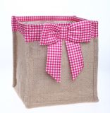 Stilvolles Customized Jute Shopping Tote Bag (hbju-137)