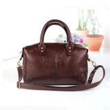 2017 New Korean Ladies Handbag Retro Boston Oil Wax (GB # CE0594 #)