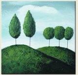 Árvore de desenhos animados Arts pintura a óleo sobre tela