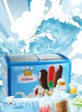 mini congelador colorido da caixa do gelado 158L