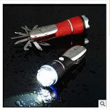 Innen heraus Auto-Taschenlampe summen des PAS-Röhrenblitz-1W LED mit dem Hammer laut, zum des Fensters im Notfall zu brechen