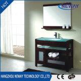 Module en bois blanc de vanité de salle de bains de maison d'hôtel de modèle neuf