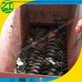 Madera/plástico/neumático/basura municipal/hueso animal/desfibradora doble del eje