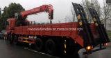 De Op zwaar werk berekende Vrachtwagen van Dongfeng 8X4 Opgezet met 16 van de Telescopische Ton Kraan van het Wapen