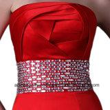 Mermaid сатинировки женщин платье выпускного вечера партии вечера без бретелек длиннее
