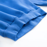 Maglietta felpata all'ingrosso ricamata abitudine lunga CVC (YK-171021) delle donne del manicotto