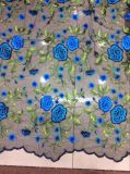 2017 europäisches und amerikanisches Art-Stickerei-Spitze-Gewebe für Garment der Dame