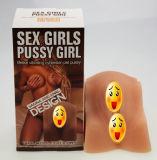 セクシーな女性の人形の男性のMasturbator愛人工的なろばの偽造品の猫を感じる性の人形の実質の皮