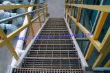 Rejilla de acero inoxidable para la plataforma de planta química