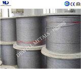 Galv. câble de corde du fil d'acier 6X19s+FC