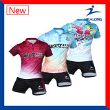 Tênis de tabela unisex Jersey da impressão do Sublimation do Sportswear de Healong