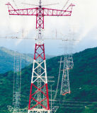 Uhvの角度の鋼鉄送電線タワー