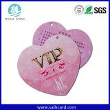 Tarjeta de la publicidad de PVC