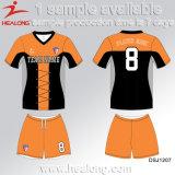 Healong中国Deisgnは販売のための昇華女性クラブフットボールジャージーに着せる