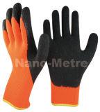 Couche de Latex Shell Nmsafety Orange enduite Gant de travail d'hiver