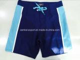 Oeko-Tex pleine taille élastique de polyester de couleur de contraste de bord court de maillots de bain enfants Conseil