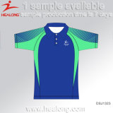 De forma personalizada Healong qualquer logotipo de desporto Mens Polo Shirts