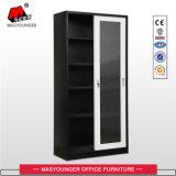 Mobiliário de escritório Kd Estrutura de armazenamento de porta deslizante de vidro porta armário
