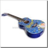 03.04 Tatuaje de la guitarra acústica de color (AFG36D-4)