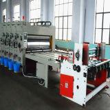 3 Farben-gewölbtes Pappe-Drucken-kerbende Maschine