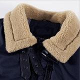 Revestimento do algodão do colar da pele do cordeiro para a roupa do homem