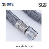 Gris Nylon fil tressé tuyau flexible pour toilettes Connection (L1004-B)