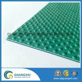 Feuille ronde de PVC de bouton, couvre-tapis en caoutchouc en caoutchouc de feuille