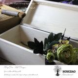 Hongdao paste de Nieuwe Ontwerp Scharnierende Groothandelsprijs _E van de Doos van de Gift van de Wijn van het Deksel Houten aan
