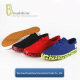Nuevo diseño de zapatos de lona con impresión Foxing
