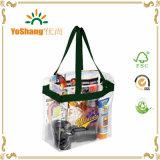 Sacchetti personalizzati della maniglia del PVC per il viaggio/sacchetto libero alla moda del PVC della plastica