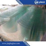 glace Tempered de 3-19mm, verre trempé, courbe et plat