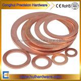 La norme DIN Joint laiton/cuivre de la rondelle plate de la rondelle de joint torique d'étanchéité