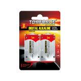 taille alkaline de pile sèche de Digitals d'usine de 1.5V Chine dans le paquet de carte d'ampoule (LR03-AAA)
