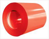 Bobina de acero prepintada (PPGI, color rojo RAL3009)