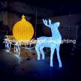 Waterproof IP66 Decorative Christmas Village Street Iluminação Deer para Shopping Mall com CE RoHS