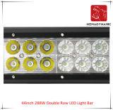 44inch 288W 도로 빛과 LED 모는 빛 떨어져 SUV 차 LED를 위해 방수 두 배 줄 LED 표시등 막대의 LED 차 빛