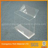 Scatola di plastica acrilica libera di caso per il tovagliolo/tessuto/caso acrilico di plastica da tavolino