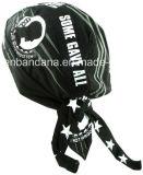 Soem-Erzeugnis passte Firmenzeichen gedruckte fördernde schwarze Baumwollradfahrer-Schädel-Hut-Schutzkappen an