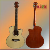 Sitka Top Folk Guitar con Hermoso Purfling