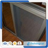 Finestra di scivolamento di alluminio di profilo/doppia finestra di vetro di alluminio con lo schermo della finestra
