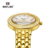 Belbiの女性用腕時計の方法女性の宝石類のステンレス鋼の金のブレスレットのダイヤモンドのファッション・ウォッチ