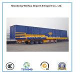 3 Aanhangwagen van de Vrachtwagen van de Doos van assen de Blauwe van de Semi Aanhangwagen van de Lading