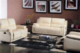Wohnzimmer-Sofa mit modernem echtes Leder-Sofa stellte ein (740)