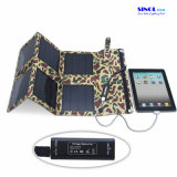18W carregadores solares dobráveis de saída de 12V para laptop, banco de energia, telefone celular com saída USB e CC (FSC-18B)