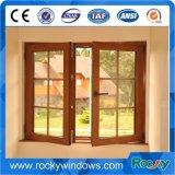 Guichet de glissement en bois de PVC de couleur de profil d'UPVC /Doors et usine de Windows