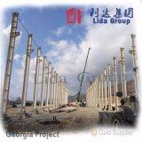 유럽에 있는 가벼운 Prefabricated 강철 구조물 창고